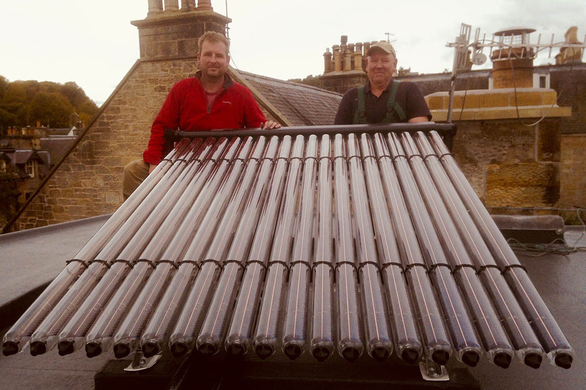 Heating system in West Linton home